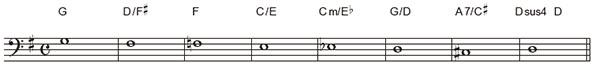 半音下行のベーステクニック